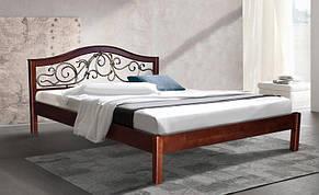 Двуспальная кровать МИКС-Мебель Илонна 140*200  Каштан (70047), фото 2