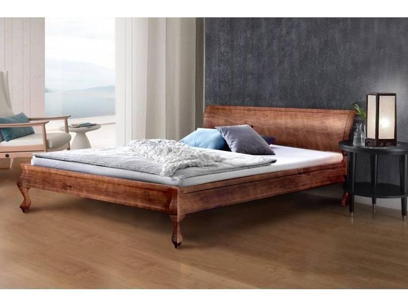 Двоспальне ліжко МІКС-Меблі Ніколь 180*190 Темний горіх (70872)