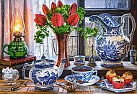 Пазлы на 1500 элементов Натюрморт с тюльпанами Сastorland