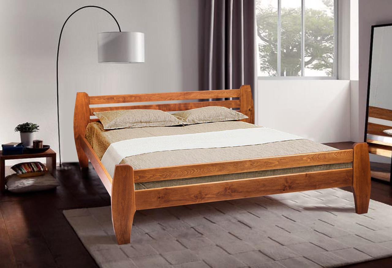 Двуспальная кровать МИКС-Мебель Galaxy 180*190 Светлый орех (70944)