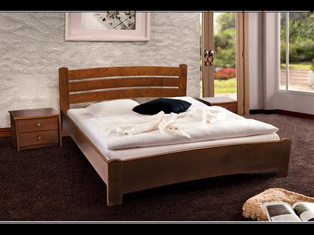 Двоспальне ліжко МІКС-Меблі Софія 140*190 Світлий горіх (70956), фото 2
