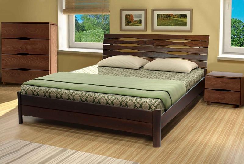 Двуспальная кровать МИКС-Мебель Мария 160*190 Тёмный орех (70978)
