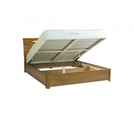 Двоспальне ліжко МІКС-Меблі Марія Люкс 160*200 Світлий горіх з підйомним механізмом (70984), фото 2