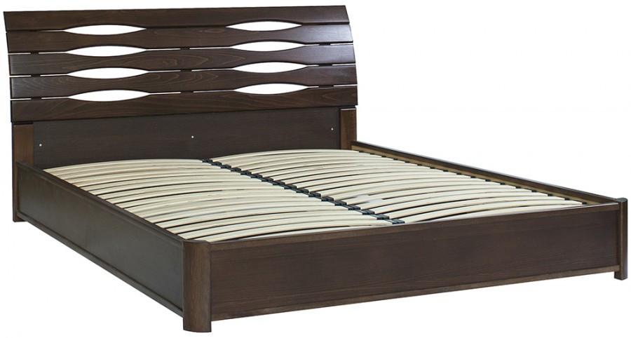 Двуспальная кровать МИКС-Мебель Мария Люкс 180*200 Тёмный орех с подъемным механизмом (70988)