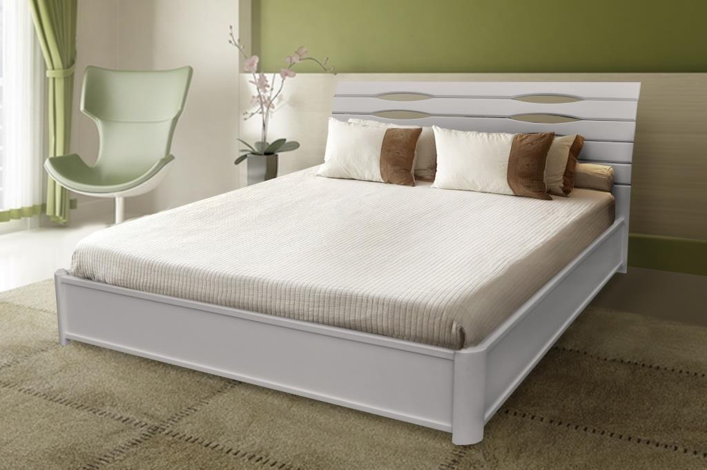 Двуспальная кровать МИКС-Мебель Мария Люкс 180*190 Белый с подъемным механизмом (71000)