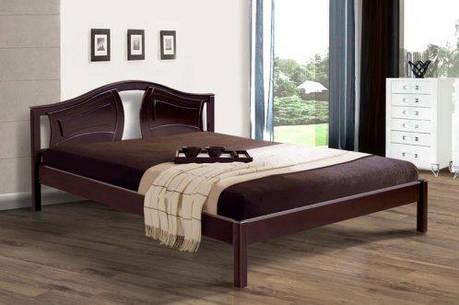 Двуспальная кровать МИКС-Мебель Марго 140*190 Каштан (70726), фото 2