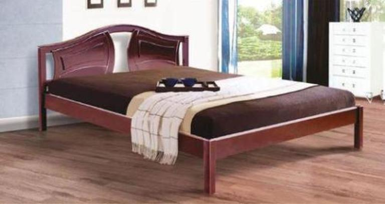 Двоспальне ліжко МІКС-Меблі Марго 160*200 Темний горіх (70778)