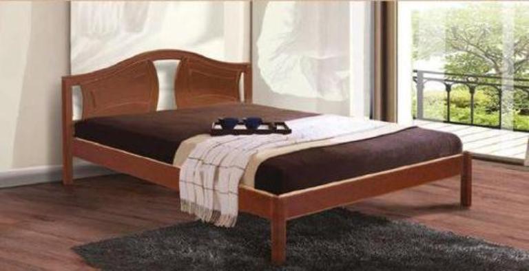 Двоспальне ліжко МІКС-Меблі Марго 140*190 Світлий горіх (70786)