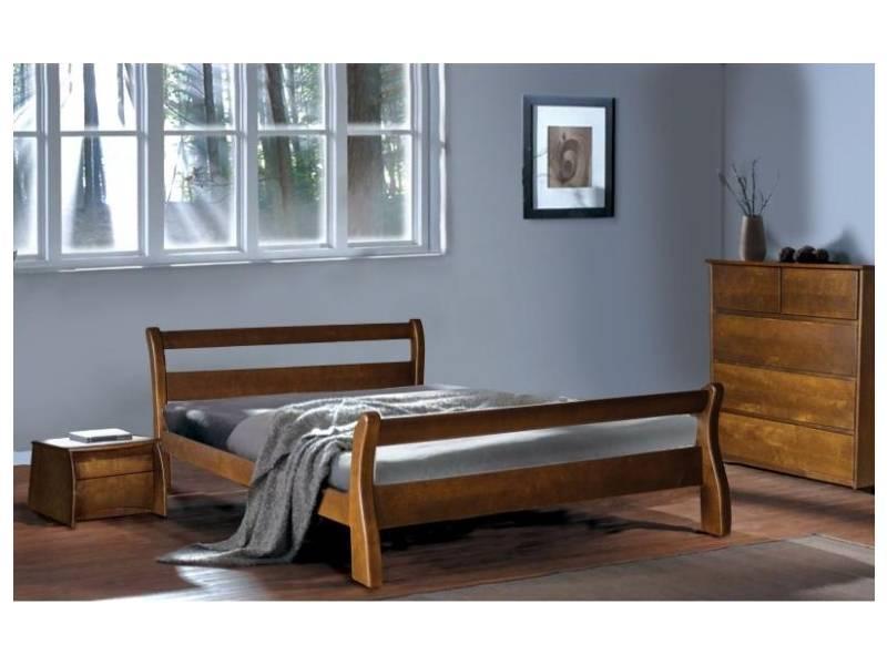 Двуспальная кровать МИКС-Мебель Монреаль 160*200 Орех (70738)