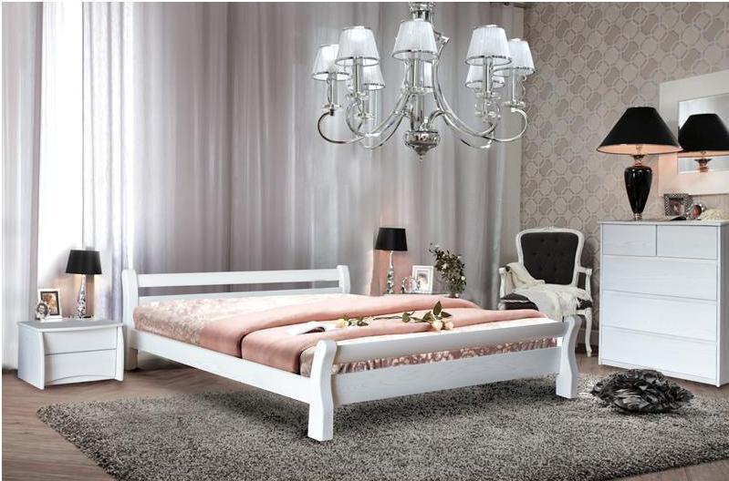 Двоспальне ліжко МІКС-Меблі Монреаль 160*200 Білий (70737)