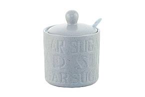 Сахарница с ложкой керамическая Maestro - 90 мм Stone