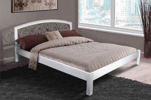 Двуспальная кровать МИКС-Мебель  Джульетта 180*200 Белый (70069), фото 2