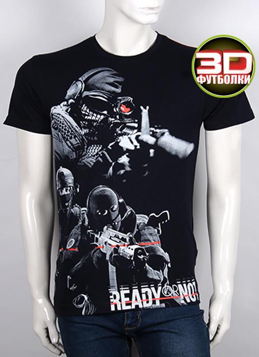 Футболка 3D Valimark Brand ready or not група захвата снайпер черная