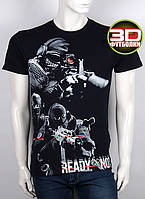 Футболка 3D Valimark Brand ready or not група захвата снайпер черная, фото 1