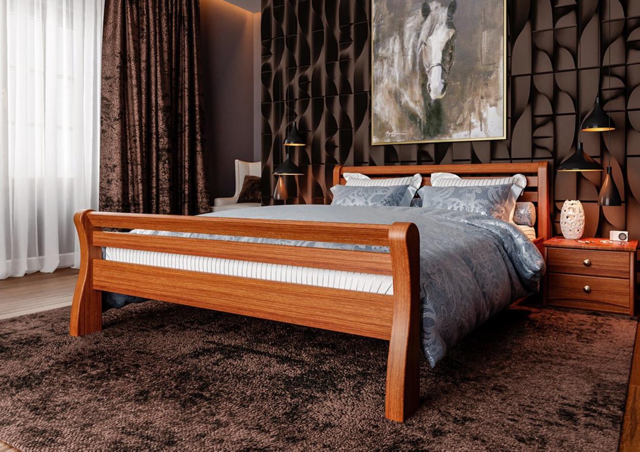 Полуторная кровать МИКС-Мебель  Ретро 120*200 Светлый орех (70749)