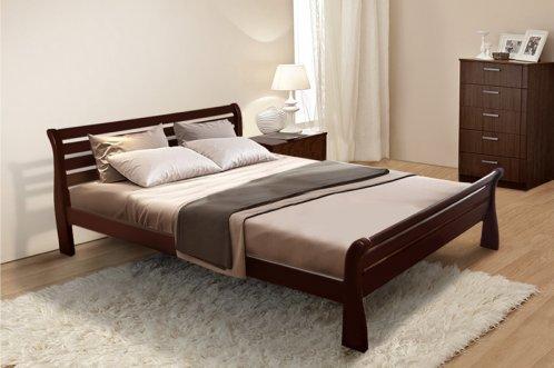 Двуспальная кровать МИКС-Мебель  Ретро 160*200 Каштан (70084)