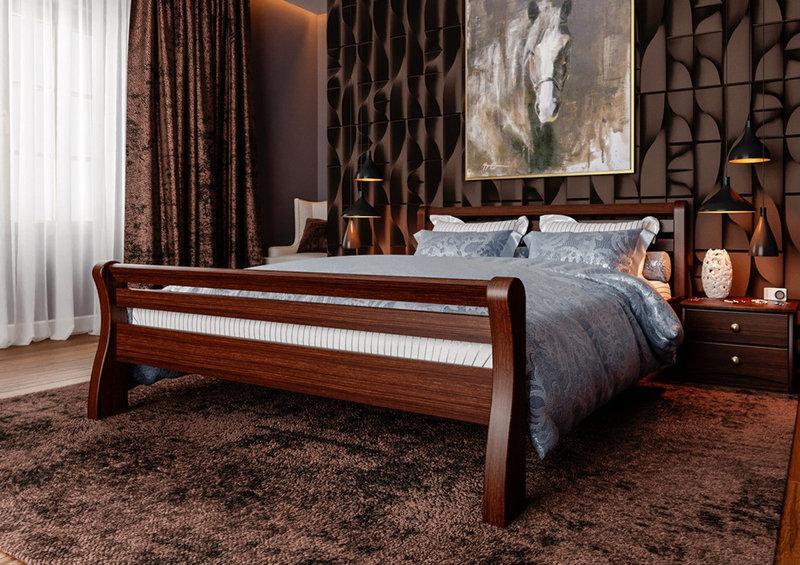 Полуторне ліжко МІКС-Меблі Ретро 120*190 Темний горіх (70769)
