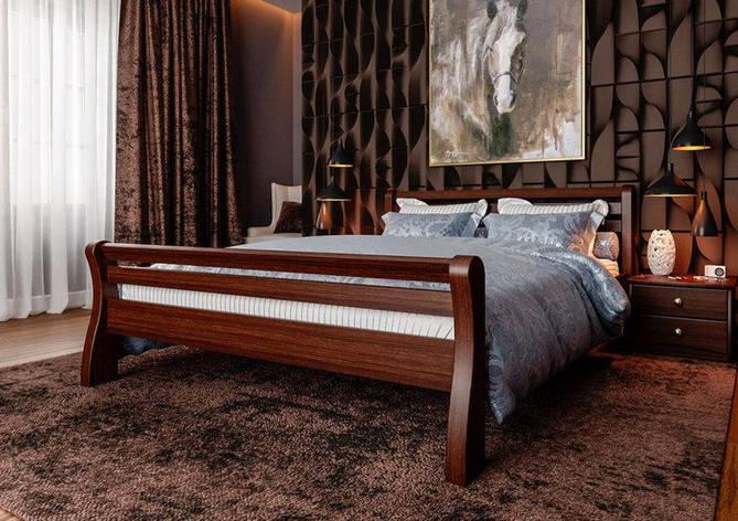 Полуторне ліжко МІКС-Меблі Ретро 120*190 Темний горіх (70769), фото 2