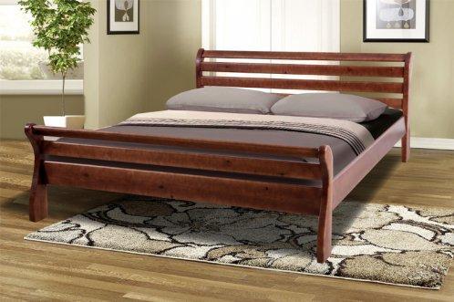 Двуспальная кровать МИКС-Мебель  Ретро-2 180*200 Тёмный орех (70088)
