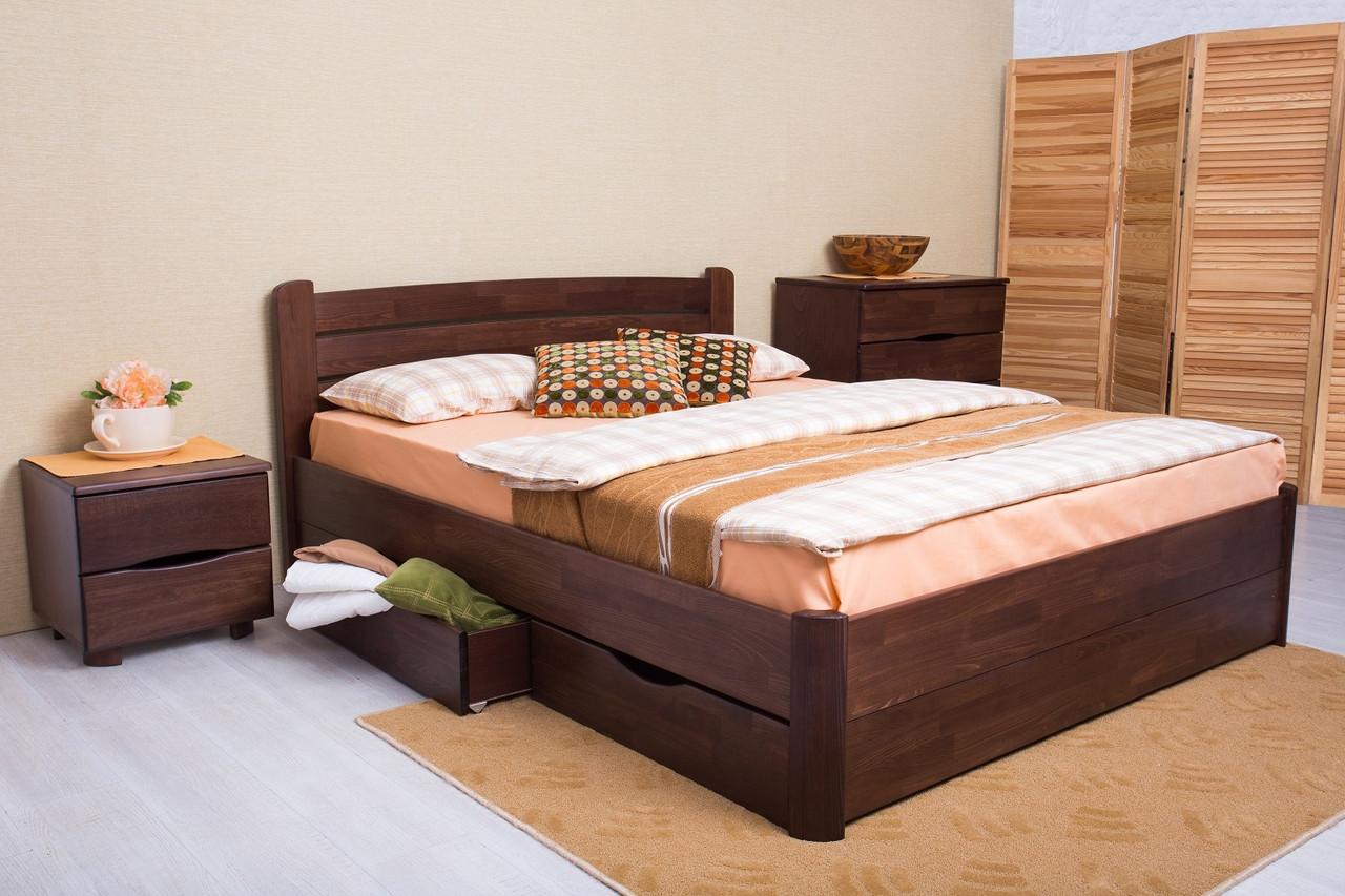 Двоспальне ліжко МІКС-Меблі Софія з ящиками 140*200 Венге (71427)