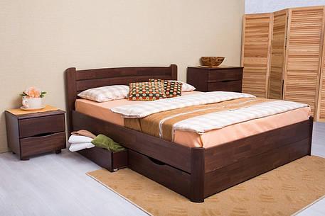 Двоспальне ліжко МІКС-Меблі Софія з ящиками 140*200 Венге (71427), фото 2