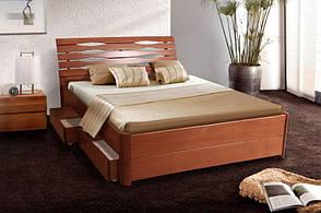 Двоспальне ліжко МІКС-Меблі Марія Люкс з ящиками 180*200 Світлий горіх (71440), фото 2