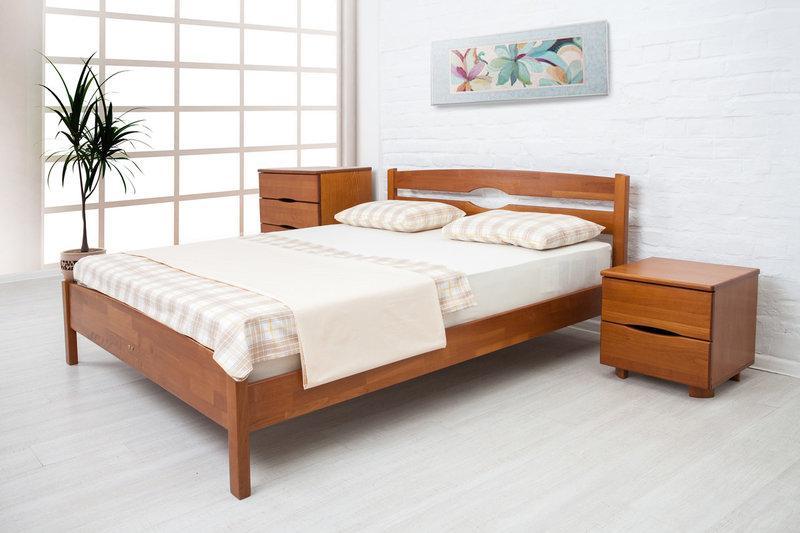 Односпальне ліжко МІКС-Меблі Кароліна 90*200 Світлий горіх (71008)