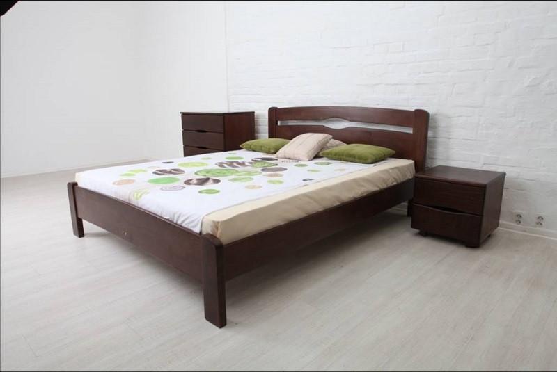 Полуторне ліжко МІКС-Меблі Кароліна 120*200 Венге (71003)