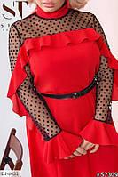 Женское Элегантное ПЛАТЬЕ Батал Бутылка, Черное, Красное, Марсала, фото 1