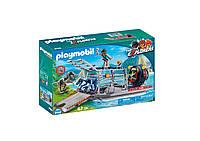 Игровой набор ПлейМобил Вражеское водное судно с ящеромPLAYMOBIL Enemy Airboat with Raptor Building Set