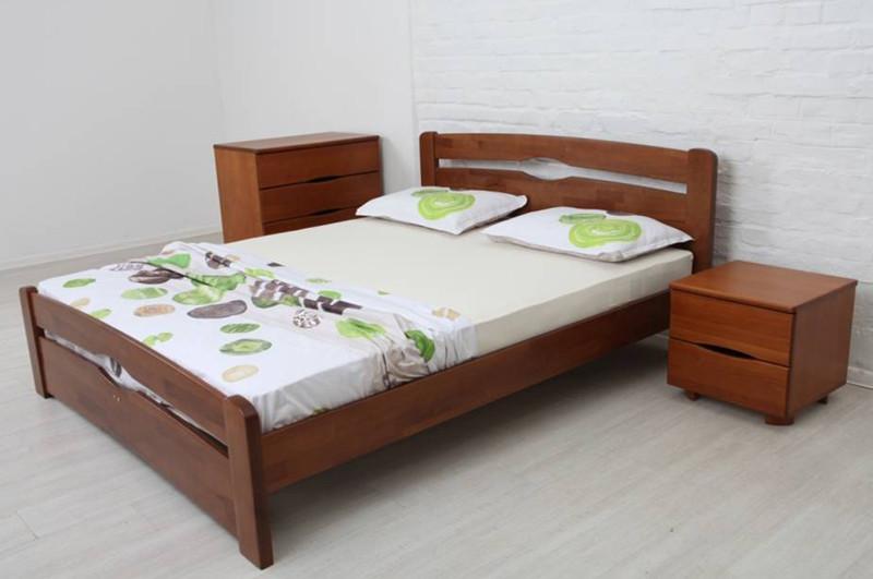 Двоспальне ліжко МІКС-Меблі Кароліна Люкс 160*190 Темний горіх (71188)