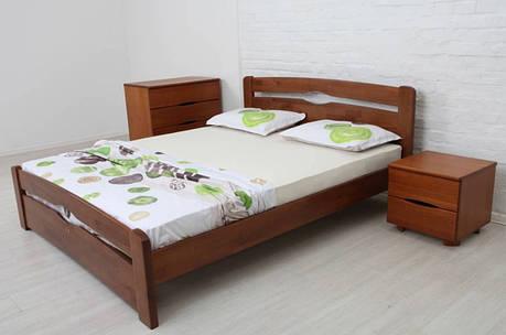 Двоспальне ліжко МІКС-Меблі Кароліна Люкс 160*190 Темний горіх (71188), фото 2