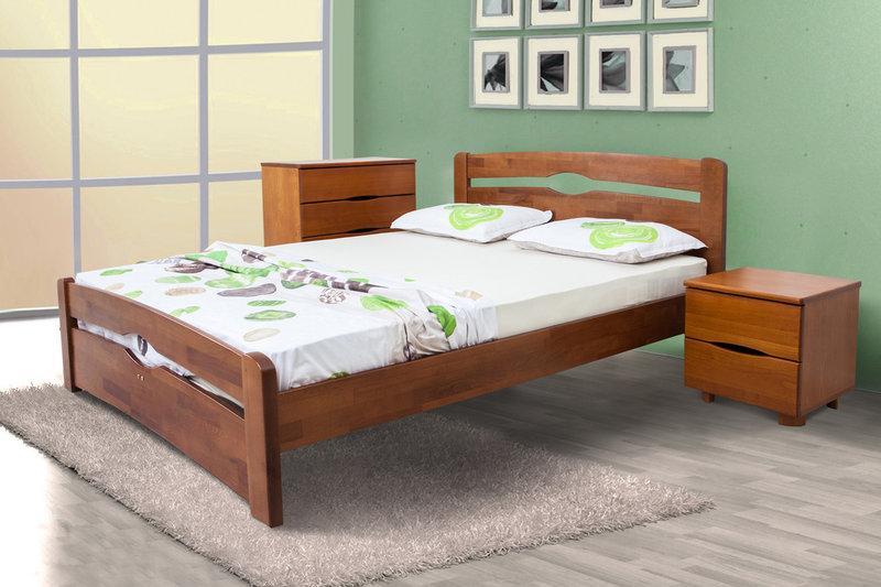 Двоспальне ліжко МІКС-Меблі Кароліна Люкс 180*190 Світлий горіх (71195)