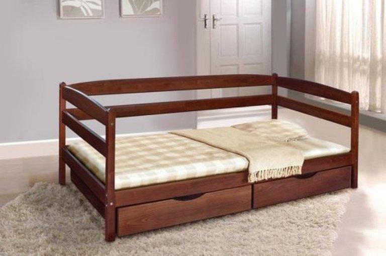 Односпальне ліжко МІКС-Меблі Єва 90*200 Венге (71240)