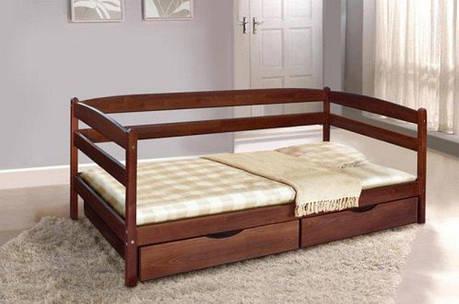 Односпальне ліжко МІКС-Меблі Єва 90*200 Венге (71240), фото 2