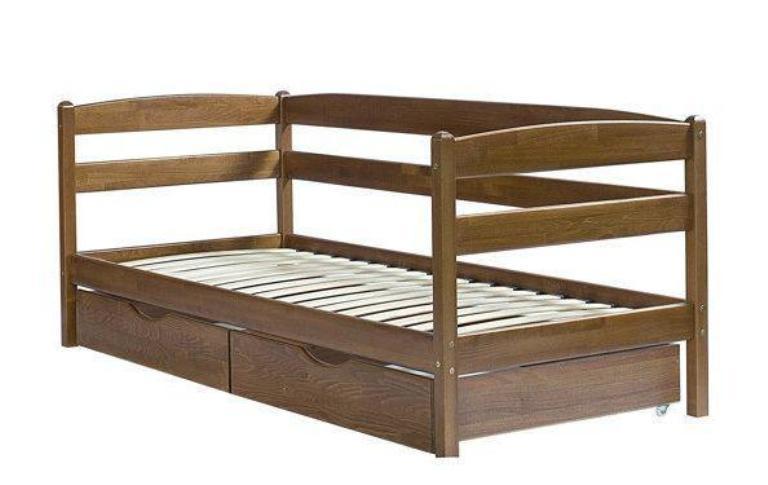 Односпальная кровать МИКС-Мебель Ева 90*200 Темный орех (71246)