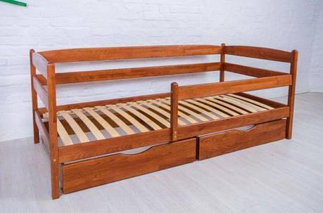 Односпальная кровать МИКС-Мебель Ева 70*140 Светлый орех (71250), фото 2