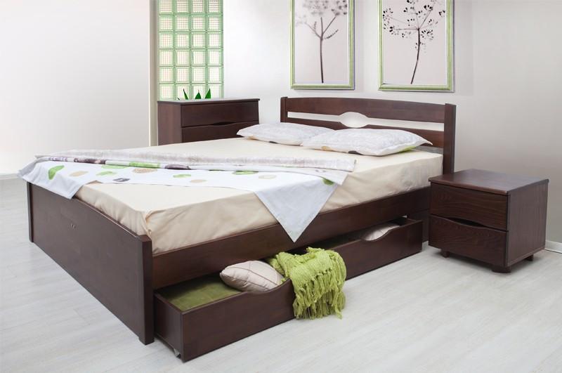 Полуторная кровать МИКС-Мебель Ликерия люкс ящиками 120*200 Венге (71454)