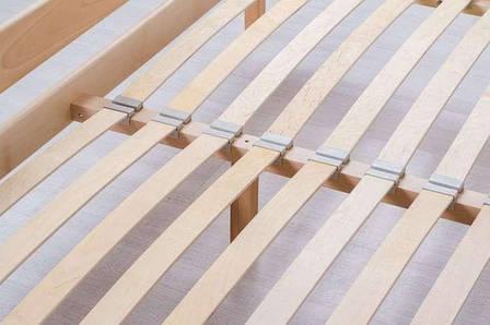 Односпальне ліжко МІКС-Меблі Айріс з изножьям 90*200 Темний горіх (72166), фото 2