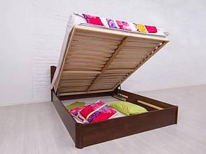 Двоспальне ліжко МІКС-Меблі Айріс Люкс з підйомним механізмом 180*190 Темний горіх (72184), фото 2