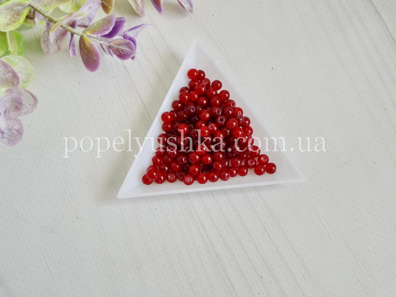 Намистини 4 мм червоні (20 шт)
