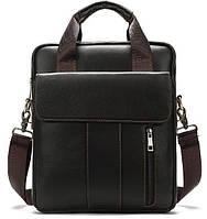 Вертикальная сумка мужская Vintage 14788 Коричневая, фото 1