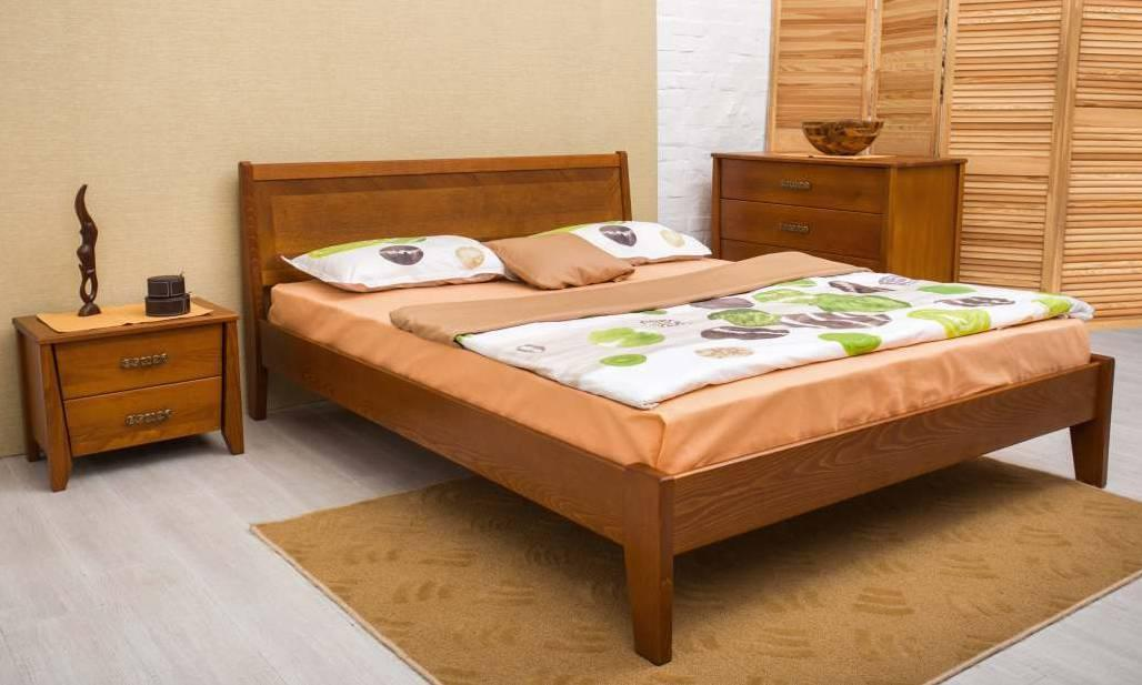Двуспальная кровать МИКС-Мебель Сити без изножья Интарсия 140*190 Светлый орех  (72219)