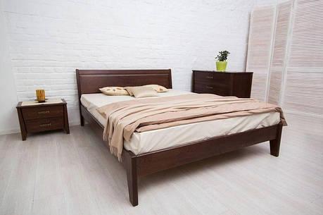 Двуспальная кровать МИКС-Мебель Сити без изножья Филёнка 160*200 Тёмный орех  (72223), фото 2