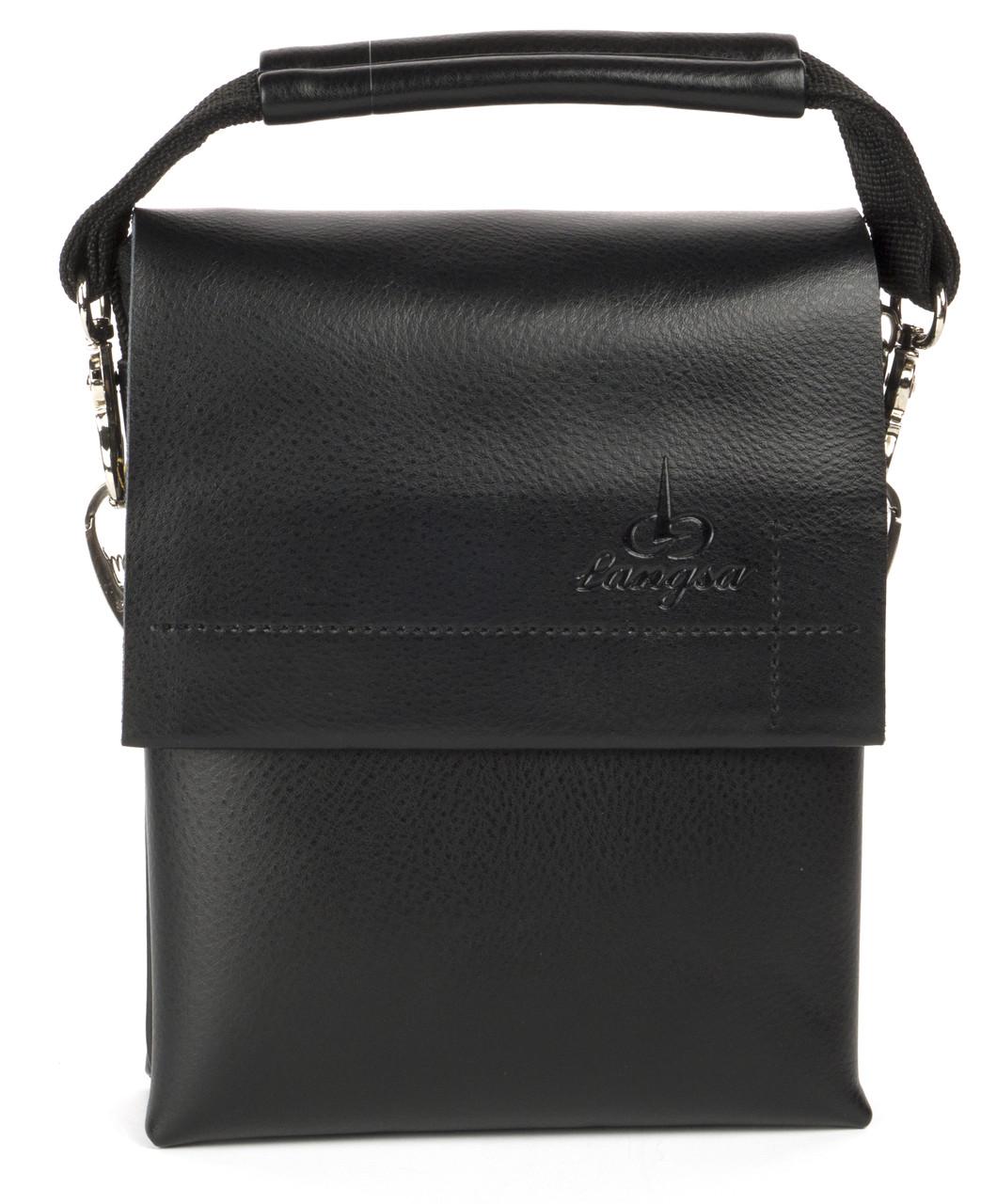 Удобная мужская стильная сумка Langsa art. 9888-0 черный