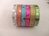 Скотч-лента для дизайна 7 мм*2м  микс цветов набор 6 шт.
