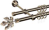 Карниз для штор двойной ø 16+16 мм, наконечник Клен