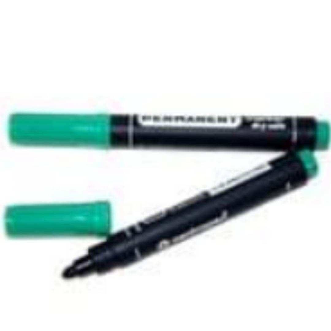 Маркер перманентный Deli 6881 зелёный 1-5мм клиновидный
