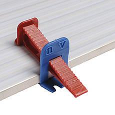 СВП система выравнивания плитки, основы (зажимы) со швом 1мм  (2500шт), фото 2