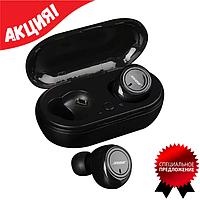 Беспроводные наушники Bluetooth BOSE TWS-2, Bluetooth наушники с боксом для зарядки (черного и белого цвета)